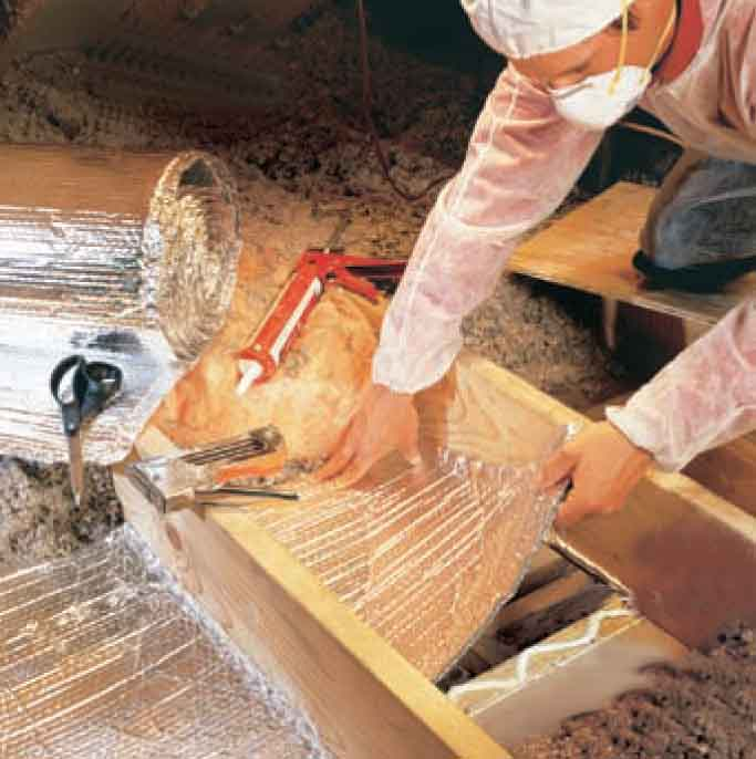 Sealing attic spaces to prevent heat loss does not stop ice dams