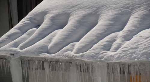Zig zag heat tape does not prevent ice dams