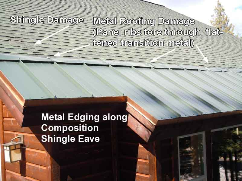 Metal Edging On Shingle Roofing Does Not Prevent Ice Dams