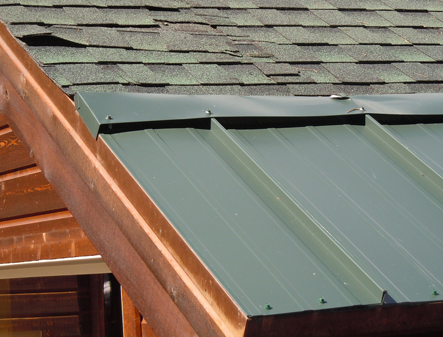 Metal Skirting On Shingle Roof Eave A2 900 Summit Ice