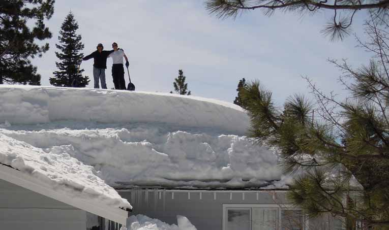 Why shovel snow of the roof to get rid of an ice dam?