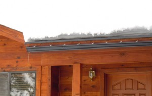 Radiant Edge works with heated gutter and downspout system