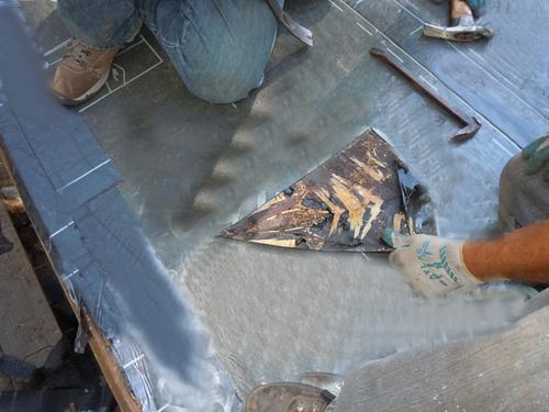 Ice dam membrane fails and leaks